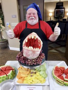 shark week fruit carving