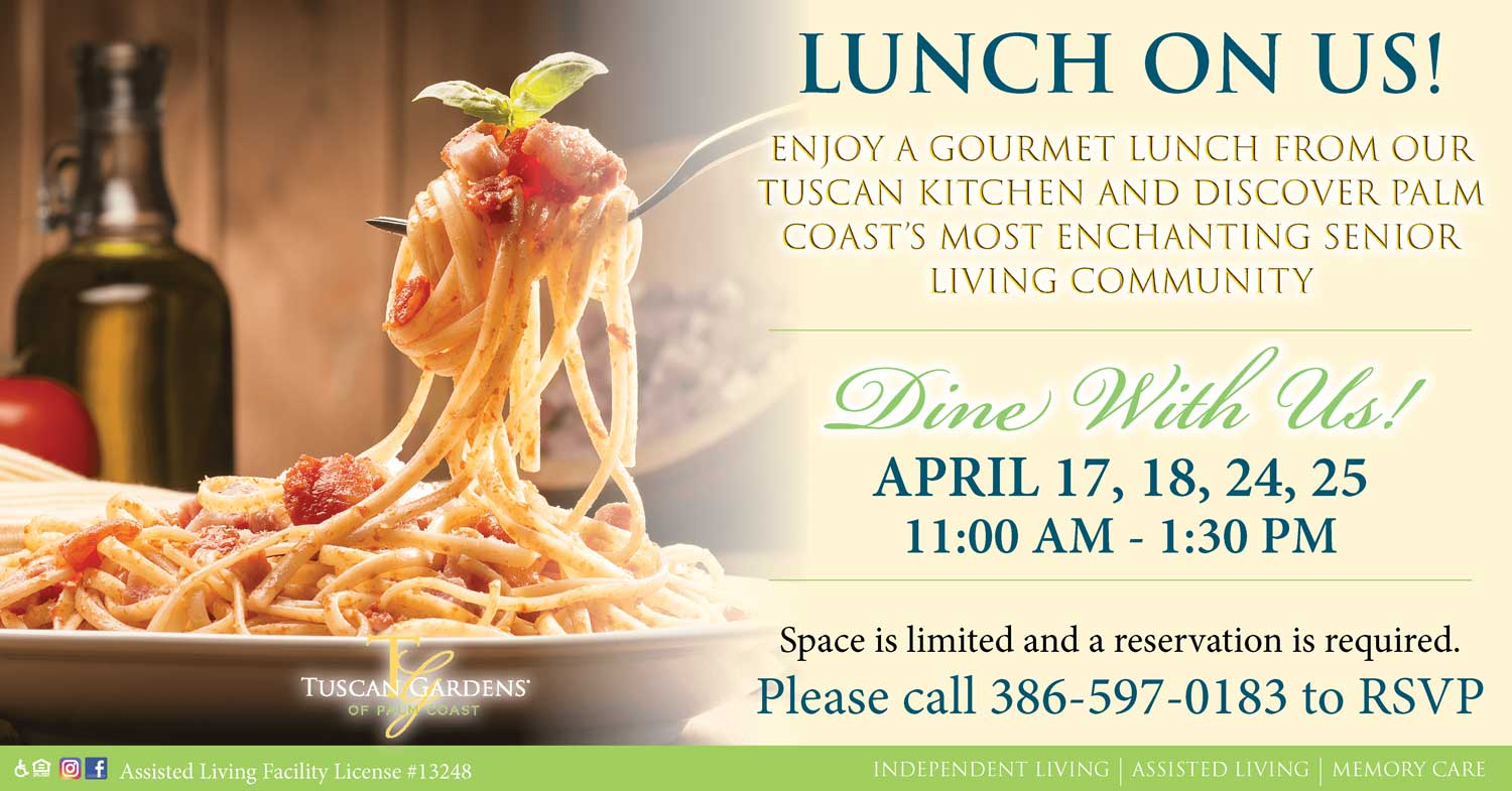 lunch tours at Tuscan Gardens of palm coast